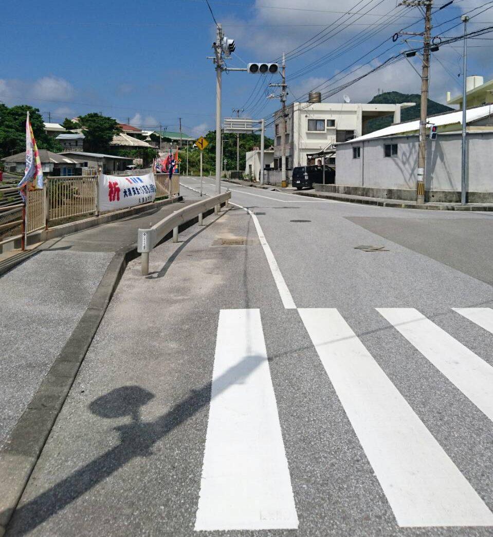 日本最西端の久部良地区の信号