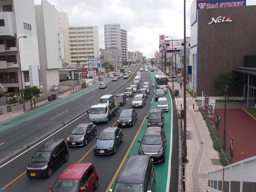 国道58号線 港川(浦添北道路・臨港道路浦添線開通後)