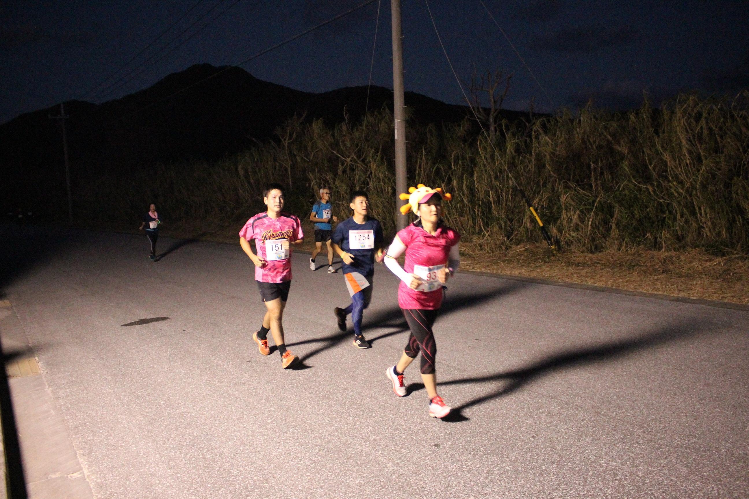 伊平屋ムーンライトマラソンのナイトマラソン