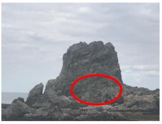 「ヤへ岩」をよーく目を凝らして見てみると