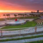 Amphitheater sunset
