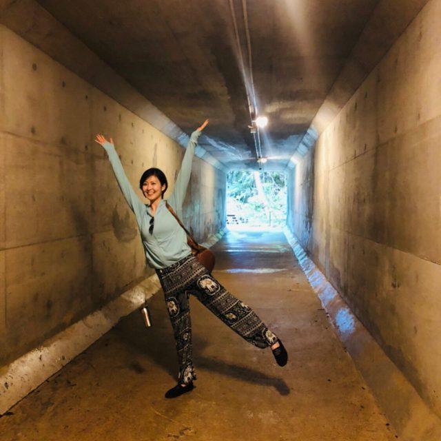 ジブリのようなトンネルにて
