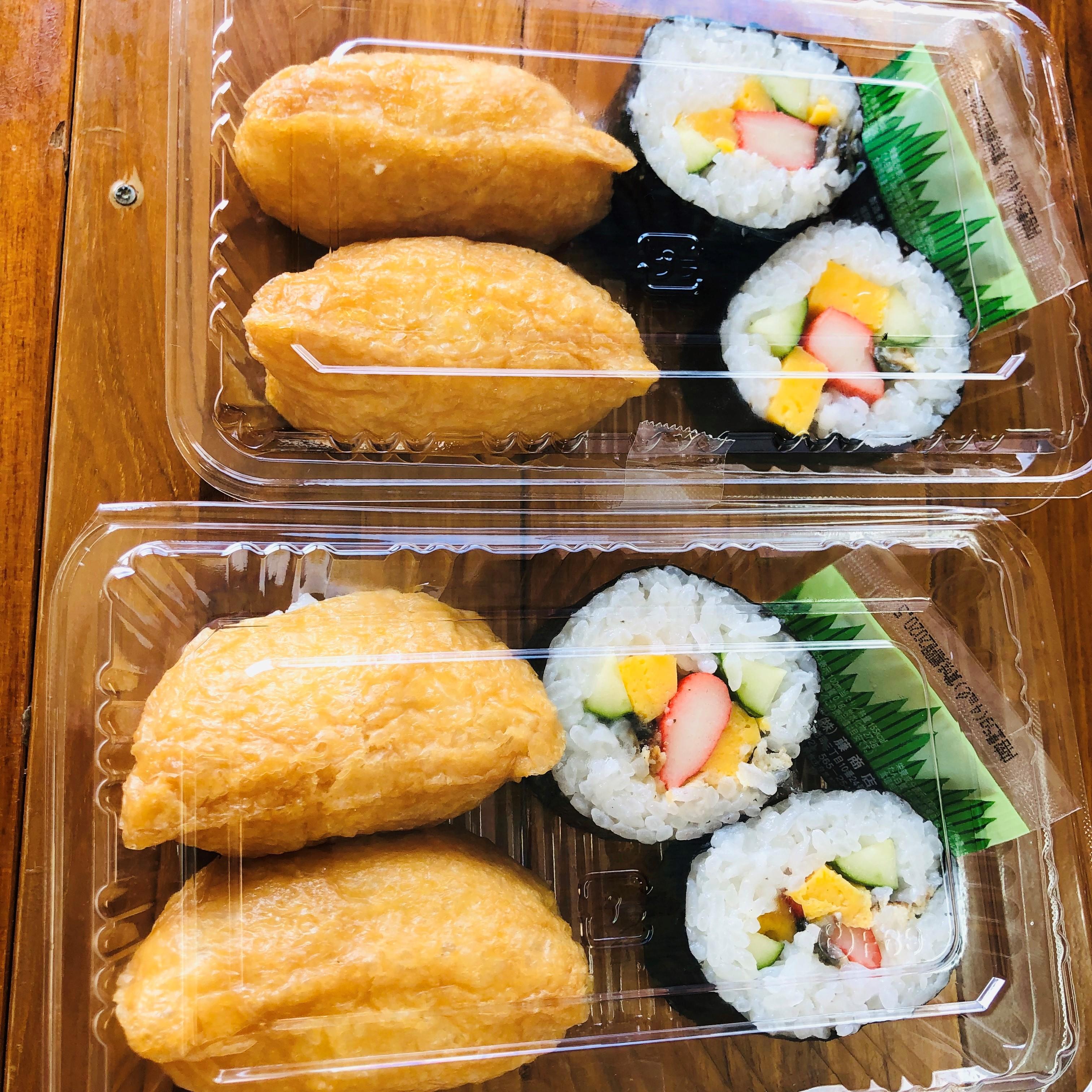 巻き寿司とおいなりさんのお持ち帰りセット