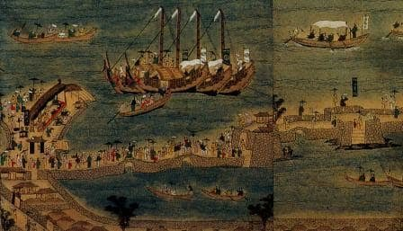 琉球貿易図屏風