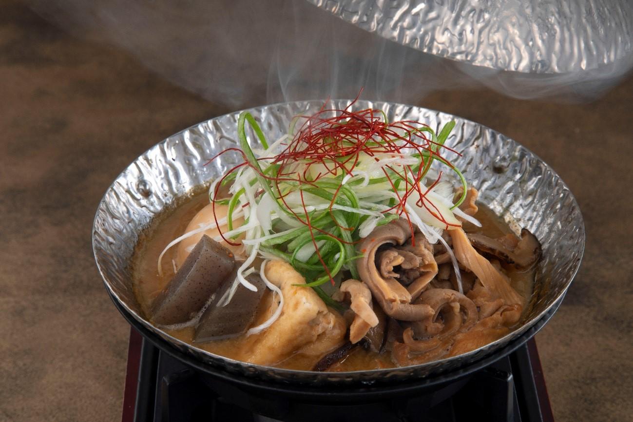 中身とこんにゃくの味噌煮