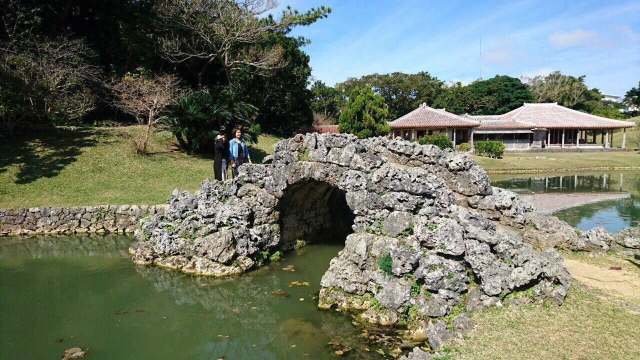 琉球石灰岩の橋