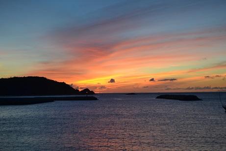 伊平屋の夕日の美しさもピカイチ