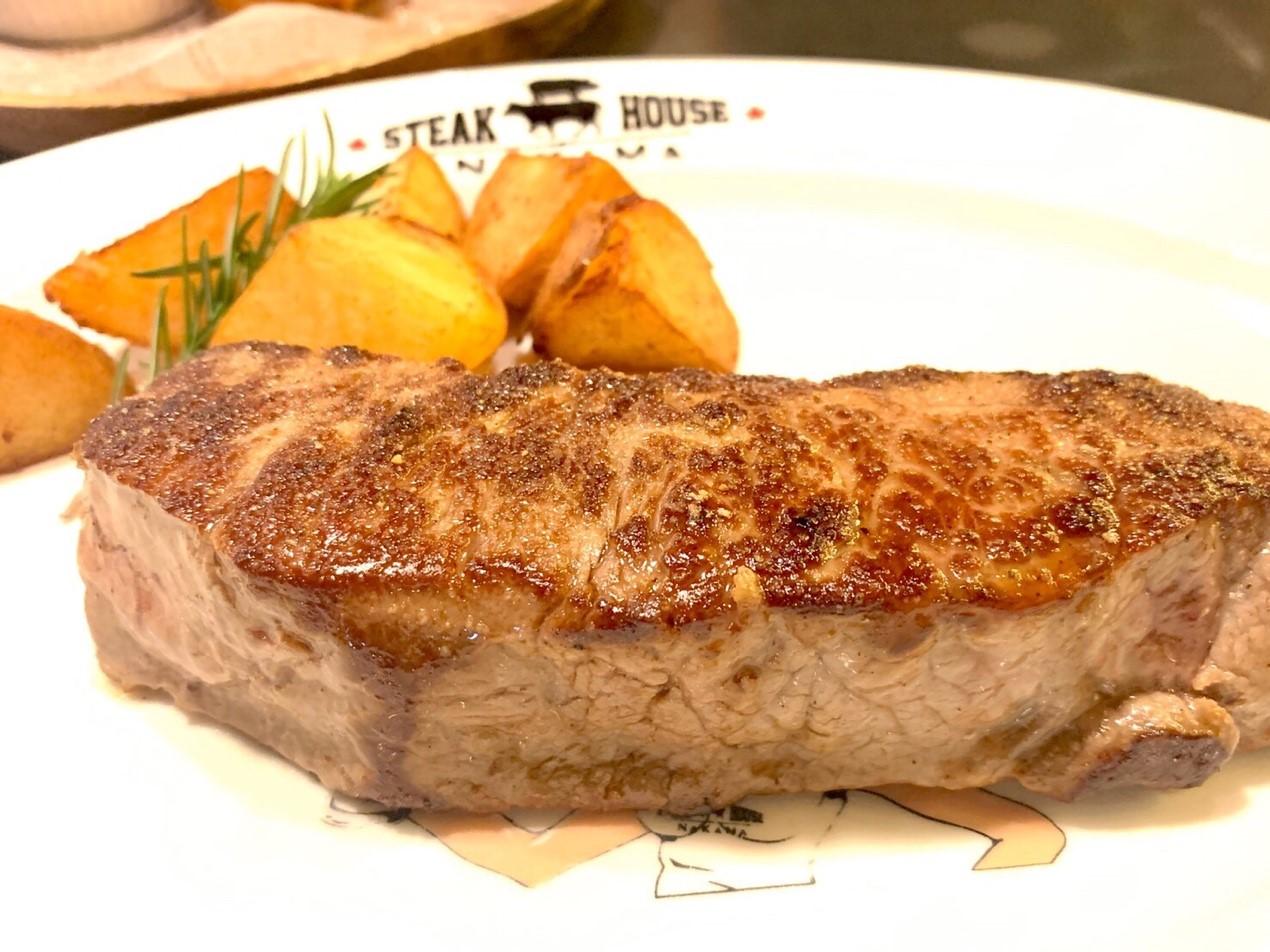 肉汁溢れるがっつりステーキ