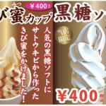 竹富町の代表グルメ-きび蜜カップと黒糖ソフト-