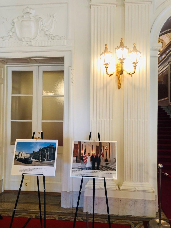 安倍総理、昭恵夫人、トランプ大統領、メラニア夫人の記念写真
