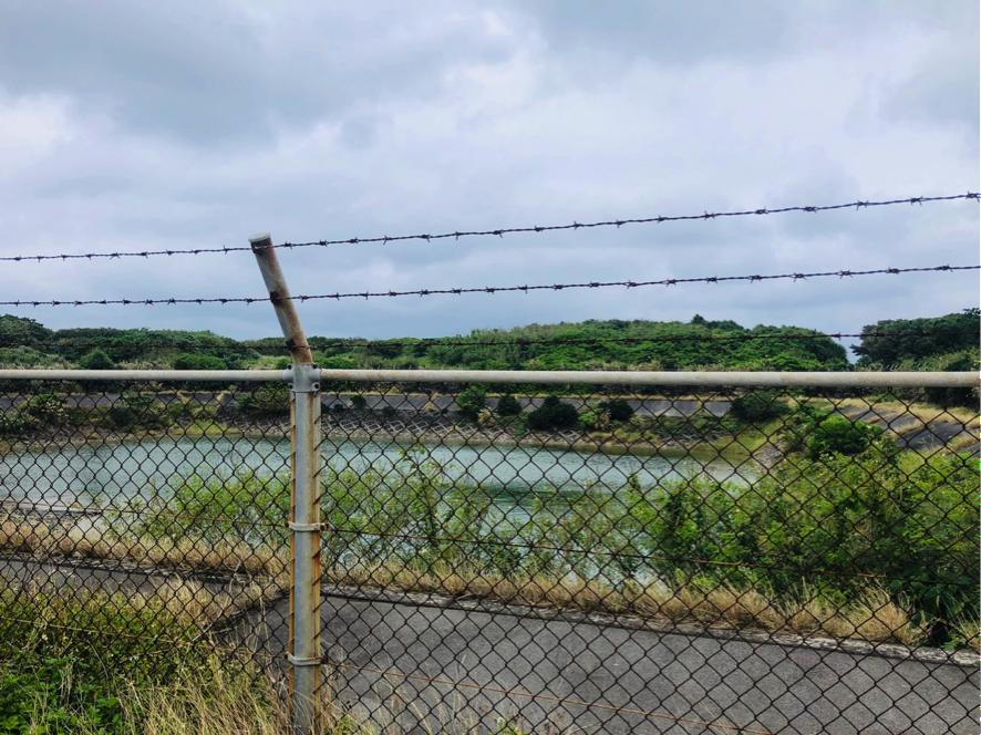 久高島 徒歩でハビャーンへ 貯水池を発見