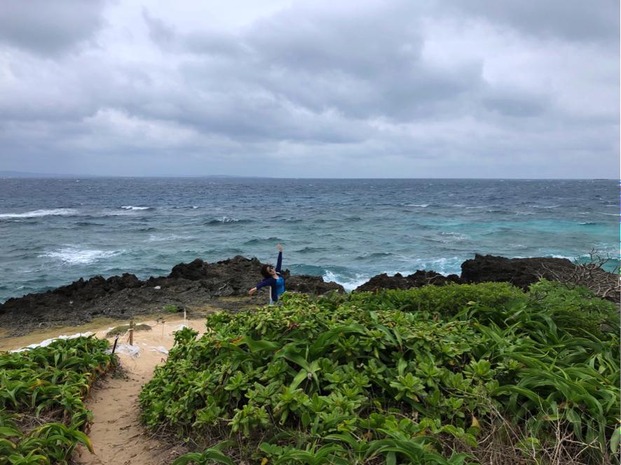 「神の島」久高島の「ハビャーン」 海岸に近づくと