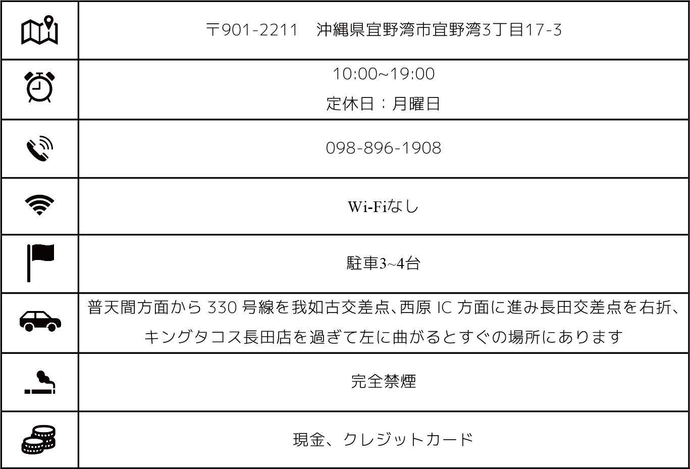 宜野湾のカフェ+珈琲焙煎店「YAMADA COFFEE OKINAWA 山田珈琲 沖縄」の基本情報