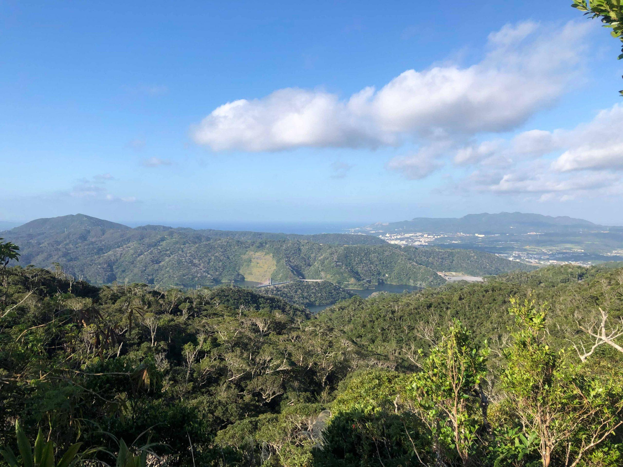 多野岳から見下ろす羽地ダム